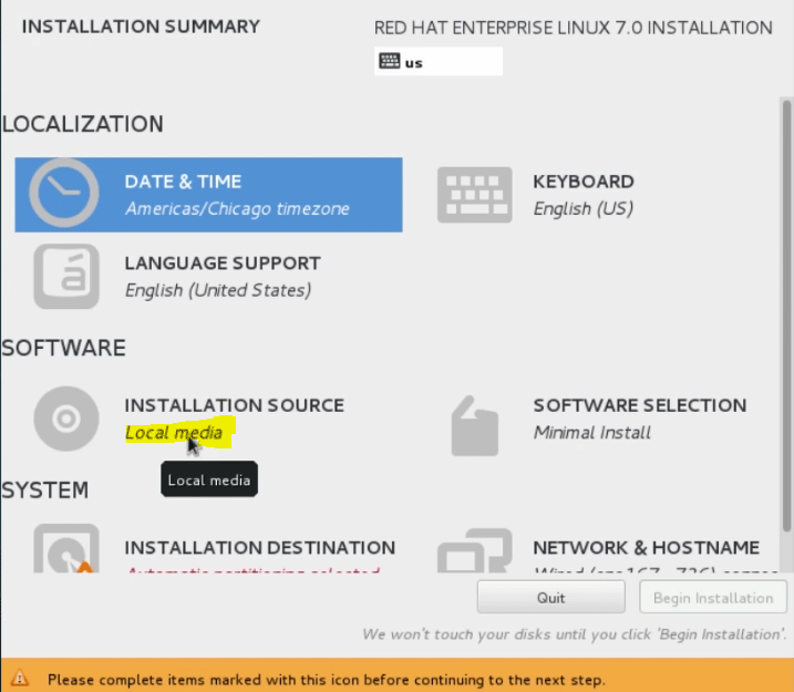 installation source