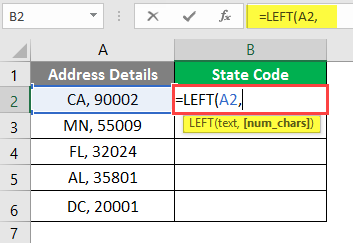 left excel example 2-3