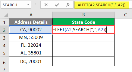 left excel example 2-6