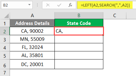 left excel example 2-7