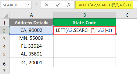 left excel example 2-8