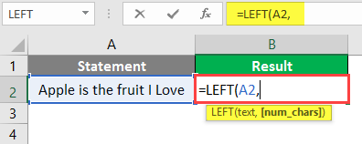 left formula in excel example 1-3