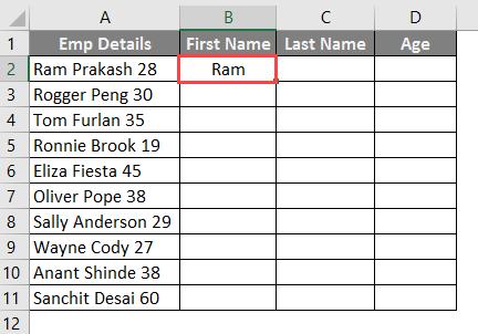 Flash Fill option 3