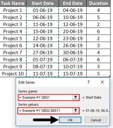 project timeline in excel 3