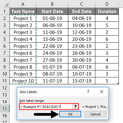 project timeline in excel 6