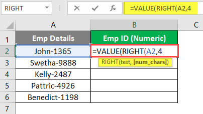 Argument Value