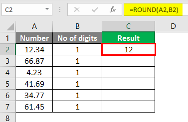 round formula excel example 1-2