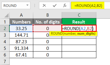 round formula excel example 2-1
