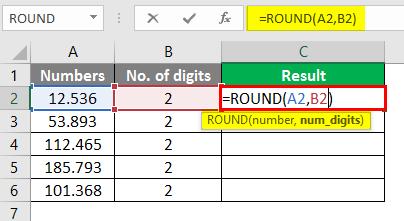 round formula in excel 3-1