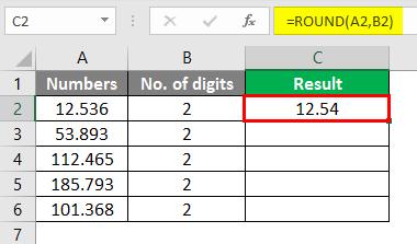 round formula in excel 3-2
