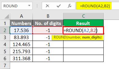 round formula in excel 4-1