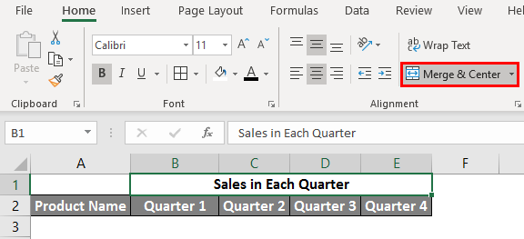 spreadsheet in excel example 2.3