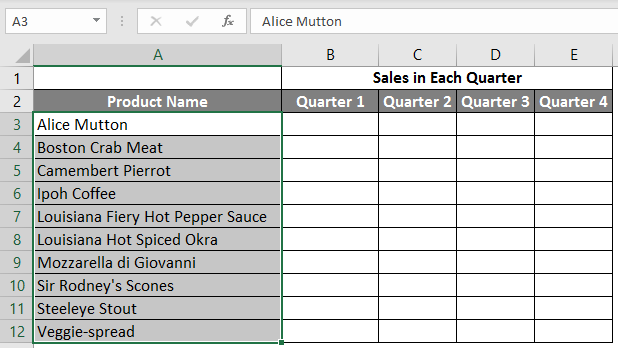 spreadsheet in excel example 2.4