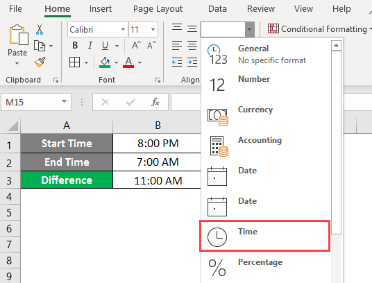 time in excel 3-4