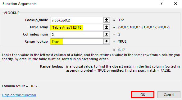 vlookup array excel 10