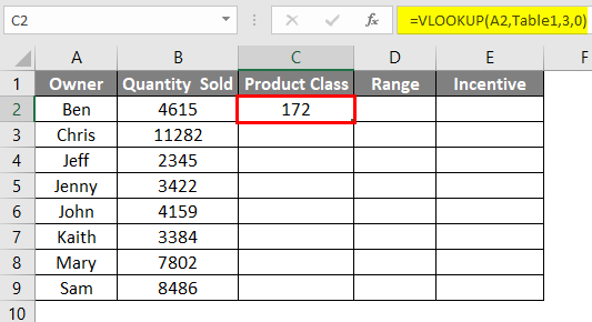 vlookup array table 7