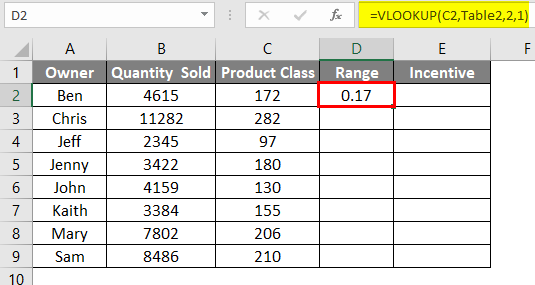 vlookup array table 8