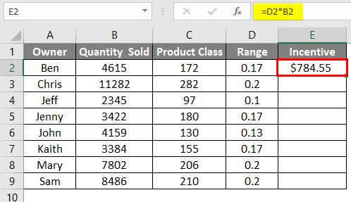 vlookup array table 9