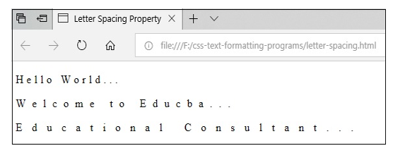 CSS Text Formatting7