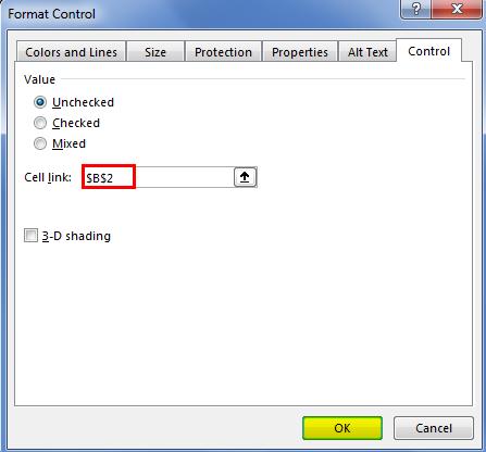 Checklist in Excel 2.7.2
