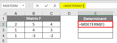 Determinant in Matrix 1.2
