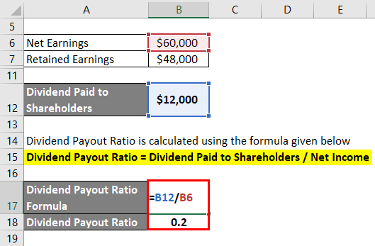 Dividend Payout Ratio Example 2-3