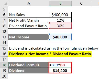Dividend Formula Example 3-3