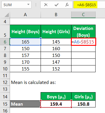Effect Size Formula Example 2-3