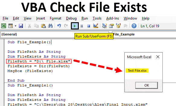VBA Check File Exists