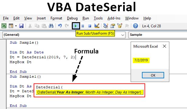 Excel VBA DateSerial