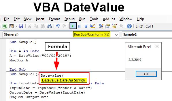 VBA DateValue | How to Use Excel VBA DateValue (Formula ...