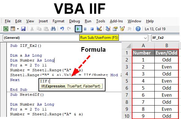 VBA IIF