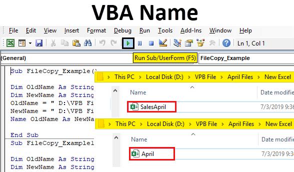 Excel VBA Name