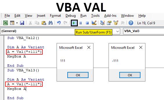Excel VBA VAL