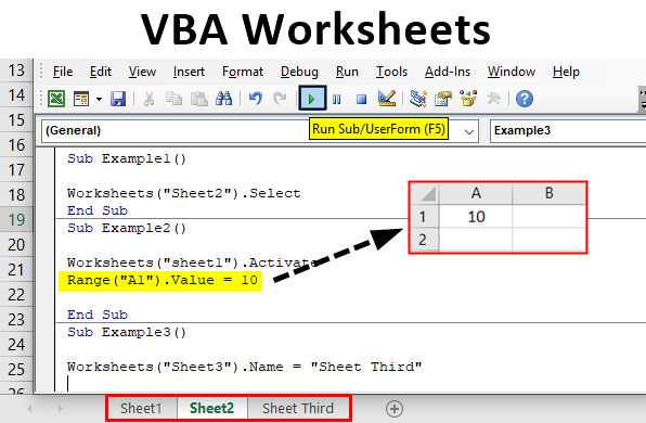 VBA WorkSheets | How to Use VBA Worksheet Function in Excel?