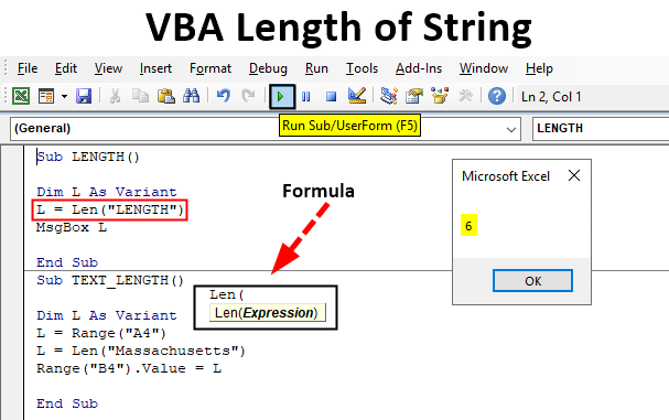 VBA length of String
