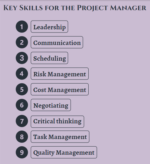 Key Skills for the Project Manager