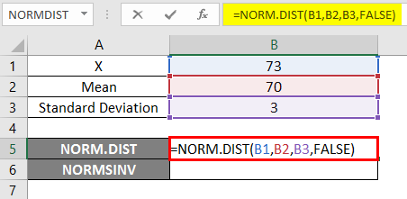 NORMSINV excel 1-4
