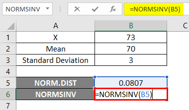 NORMSINV excel 1-6