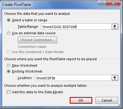 Pivot Table Filter 1.3