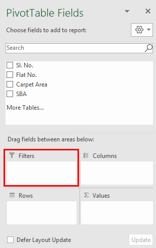 Pivot Table Filter 1.4