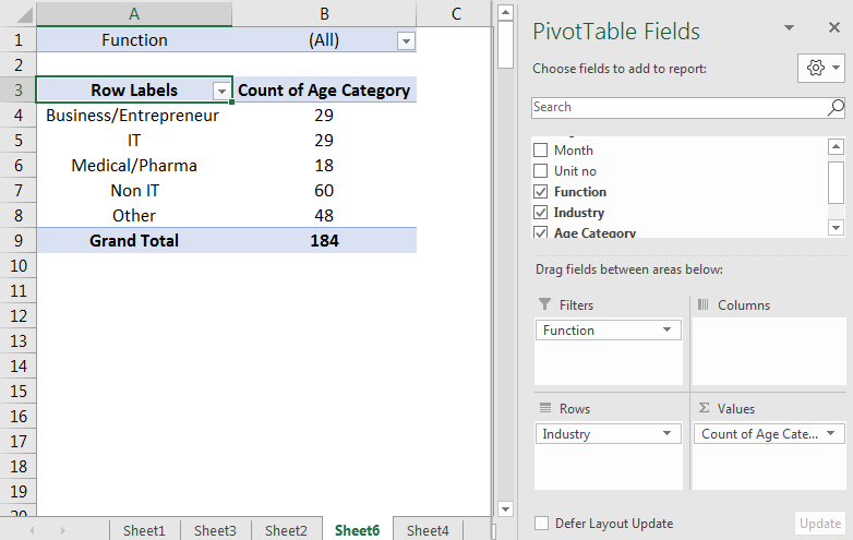 Pivot Table Filter 3.2