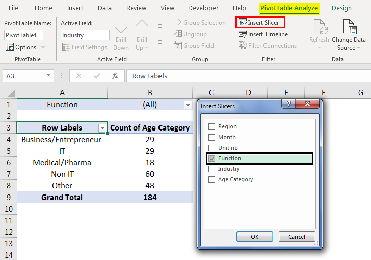 Pivot Table Filter 3.3