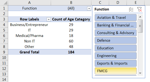 Pivot Table Filter 3.4