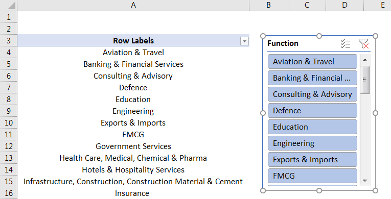 Pivot Table Filter 3.6