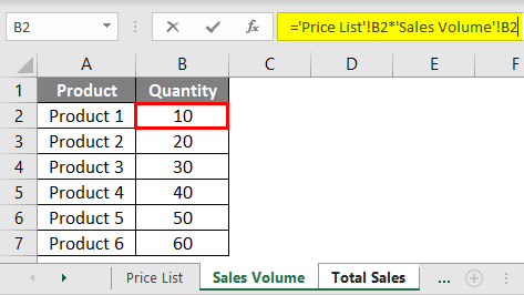 Product and Price example 1.6