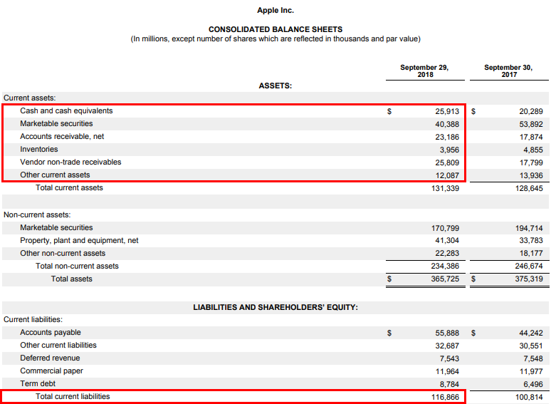 Apple Inc Consolidated Balance Sheet -3