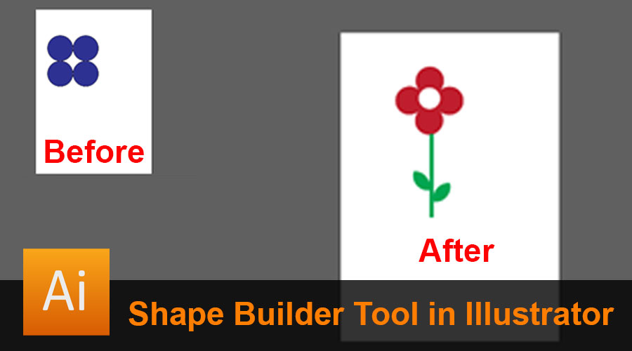 Shape Builder Tool in Illustrator