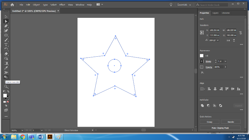 Step 3 blender Illustrator