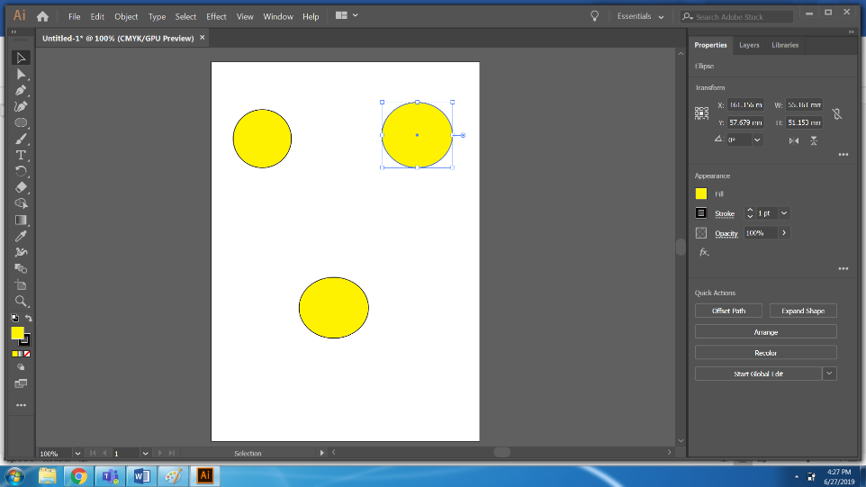 Step 8 drag and Drop(Blend Tool in Illustrator)
